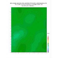 I 30 paftası 1/100.000 ölçekli Rejyonal Gravite (Bouguer Anomali) Haritası
