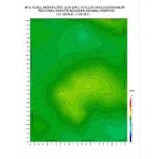 I 31 paftası 1/100.000 ölçekli Rejyonal Gravite (Bouguer Anomali) Haritası