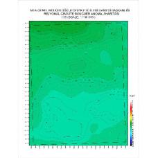 I 35 paftası 1/100.000 ölçekli Rejyonal Gravite (Bouguer Anomali) Haritası
