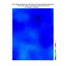 I 50 paftası 1/100.000 ölçekli Rejyonal Gravite (Bouguer Anomali) Haritası