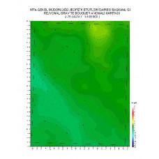 J 25 paftası 1/100.000 ölçekli Rejyonal Gravite (Bouguer Anomali) Haritası