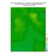 J 26 paftası 1/100.000 ölçekli Rejyonal Gravite (Bouguer Anomali) Haritası