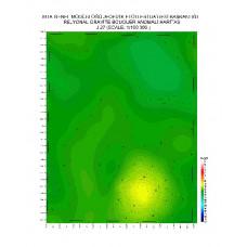 J 27 paftası 1/100.000 ölçekli Rejyonal Gravite (Bouguer Anomali) Haritası
