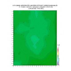 J 29 paftası 1/100.000 ölçekli Rejyonal Gravite (Bouguer Anomali) Haritası