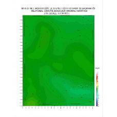 J 31 paftası 1/100.000 ölçekli Rejyonal Gravite (Bouguer Anomali) Haritası