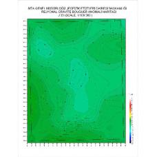 J 33 paftası 1/100.000 ölçekli Rejyonal Gravite (Bouguer Anomali) Haritası