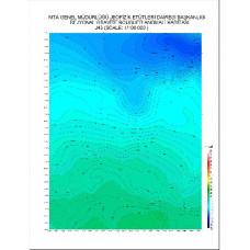 J 43 paftası 1/100.000 ölçekli Rejyonal Gravite (Bouguer Anomali) Haritası