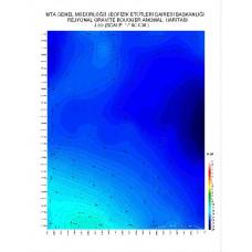J 50 paftası 1/100.000 ölçekli Rejyonal Gravite (Bouguer Anomali) Haritası