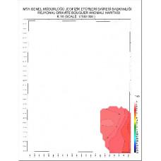 K 16 paftası 1/100.000 ölçekli Rejyonal Gravite (Bouguer Anomali) Haritası