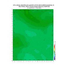 K 24 paftası 1/100.000 ölçekli Rejyonal Gravite (Bouguer Anomali) Haritası