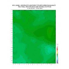 K 25 paftası 1/100.000 ölçekli Rejyonal Gravite (Bouguer Anomali) Haritası