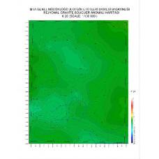 K 26 paftası 1/100.000 ölçekli Rejyonal Gravite (Bouguer Anomali) Haritası