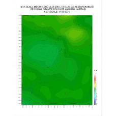 K 27 paftası 1/100.000 ölçekli Rejyonal Gravite (Bouguer Anomali) Haritası