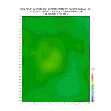 K 28 paftası 1/100.000 ölçekli Rejyonal Gravite (Bouguer Anomali) Haritası