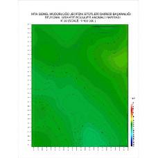 K 30 paftası 1/100.000 ölçekli Rejyonal Gravite (Bouguer Anomali) Haritası