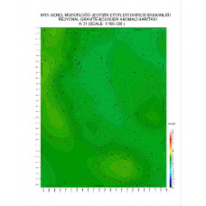 K 31 paftası 1/100.000 ölçekli Rejyonal Gravite (Bouguer Anomali) Haritası