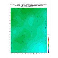 K 34 paftası 1/100.000 ölçekli Rejyonal Gravite (Bouguer Anomali) Haritası
