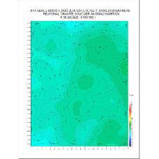 K 39 paftası 1/100.000 ölçekli Rejyonal Gravite (Bouguer Anomali) Haritası