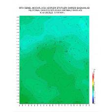 K 44 paftası 1/100.000 ölçekli Rejyonal Gravite (Bouguer Anomali) Haritası