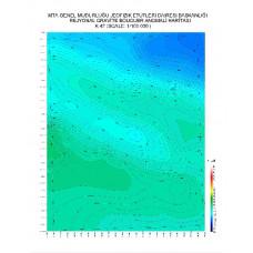 K 47 paftası 1/100.000 ölçekli Rejyonal Gravite (Bouguer Anomali) Haritası