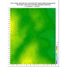 L 23 paftası 1/100.000 ölçekli Rejyonal Gravite (Bouguer Anomali) Haritası