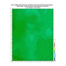 L 24 paftası 1/100.000 ölçekli Rejyonal Gravite (Bouguer Anomali) Haritası