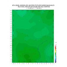 L 25 paftası 1/100.000 ölçekli Rejyonal Gravite (Bouguer Anomali) Haritası
