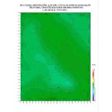 L 26 paftası 1/100.000 ölçekli Rejyonal Gravite (Bouguer Anomali) Haritası