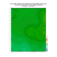 L 28 paftası 1/100.000 ölçekli Rejyonal Gravite (Bouguer Anomali) Haritası