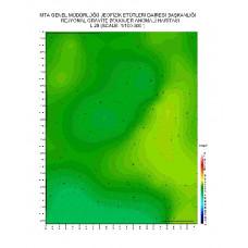 L 29 paftası 1/100.000 ölçekli Rejyonal Gravite (Bouguer Anomali) Haritası