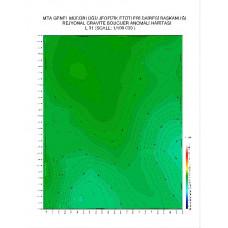L 31 paftası 1/100.000 ölçekli Rejyonal Gravite (Bouguer Anomali) Haritası