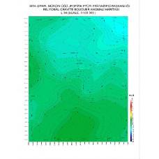 L 34 paftası 1/100.000 ölçekli Rejyonal Gravite (Bouguer Anomali) Haritası