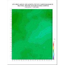 L 41 paftası 1/100.000 ölçekli Rejyonal Gravite (Bouguer Anomali) Haritası