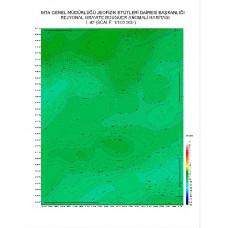 L 42 paftası 1/100.000 ölçekli Rejyonal Gravite (Bouguer Anomali) Haritası
