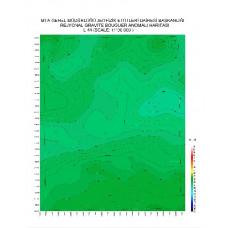 L 44 paftası 1/100.000 ölçekli Rejyonal Gravite (Bouguer Anomali) Haritası