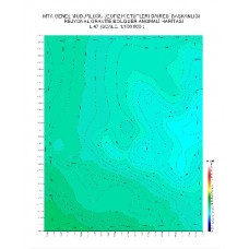 L 47 paftası 1/100.000 ölçekli Rejyonal Gravite (Bouguer Anomali) Haritası