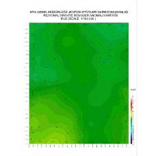 M 25 paftası 1/100.000 ölçekli Rejyonal Gravite (Bouguer Anomali) Haritası