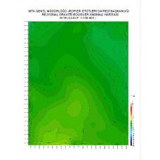 M 26 paftası 1/100.000 ölçekli Rejyonal Gravite (Bouguer Anomali) Haritası