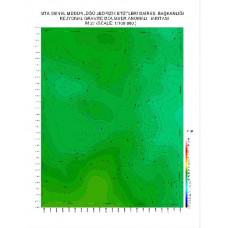 M 27 paftası 1/100.000 ölçekli Rejyonal Gravite (Bouguer Anomali) Haritası