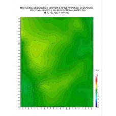 M 30 paftası 1/100.000 ölçekli Rejyonal Gravite (Bouguer Anomali) Haritası