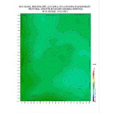 M 31 paftası 1/100.000 ölçekli Rejyonal Gravite (Bouguer Anomali) Haritası