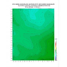 M 32 paftası 1/100.000 ölçekli Rejyonal Gravite (Bouguer Anomali) Haritası