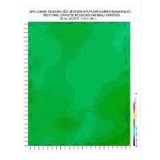 M 34 paftası 1/100.000 ölçekli Rejyonal Gravite (Bouguer Anomali) Haritası