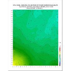 M 36 paftası 1/100.000 ölçekli Rejyonal Gravite (Bouguer Anomali) Haritası