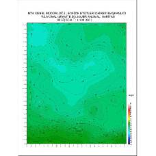 M 37 paftası 1/100.000 ölçekli Rejyonal Gravite (Bouguer Anomali) Haritası