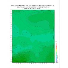 M 38 paftası 1/100.000 ölçekli Rejyonal Gravite (Bouguer Anomali) Haritası
