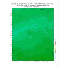 M 39 paftası 1/100.000 ölçekli Rejyonal Gravite (Bouguer Anomali) Haritası