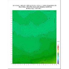 M 40 paftası 1/100.000 ölçekli Rejyonal Gravite (Bouguer Anomali) Haritası