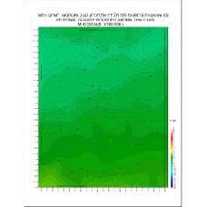 M 41 paftası 1/100.000 ölçekli Rejyonal Gravite (Bouguer Anomali) Haritası