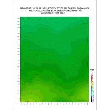 M 43 paftası 1/100.000 ölçekli Rejyonal Gravite (Bouguer Anomali) Haritası